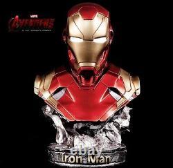 14 LED Avengers Iron man Mark 46 1/2 Resin Bust Statue Figure Model DHL Ship