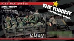 1/35 11pcs Resin Figure Model Kit US Soldiers Vietnam War (no car) Unpainted