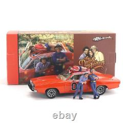 1/43 Hrn-model 1969 Dodge Charger General Lee Resin Model Replica With Figures