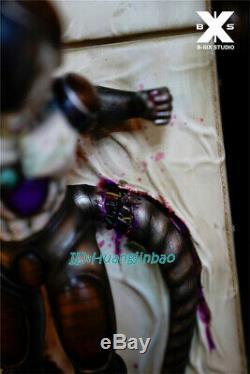 B-Six Dragon Ball Mechanical Frieza Statue Painted Model Led Light Resin Figure