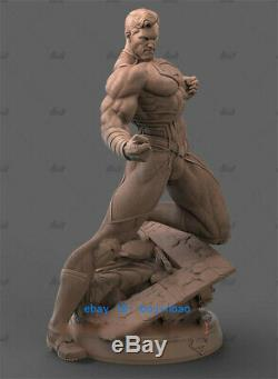 Black Superman 1/6 Resin Model Kits Unpainted 3D Printing Figure Unassembled