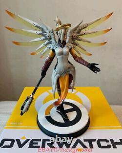 Blizzard Overwatch OW Mercy Angela Ziegler 35CM Statue Model FIGURES In Stock