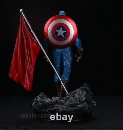 Captain America 1/6 Model Resin Statue Figure Primary Color Version In Stock
