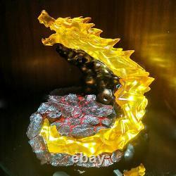 Demon Slayer Agatsuma Zenitsu LED Light Action Figures Resin Platform Model 22cm