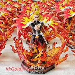 Demon Slayer Rengoku Kyoujurou Led Resin Figure Model Painted Jianke In Stock