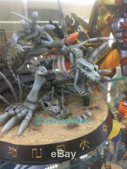Digital Monster Skull Greymon Resin Figure Model Painted Statue In Stock Anime