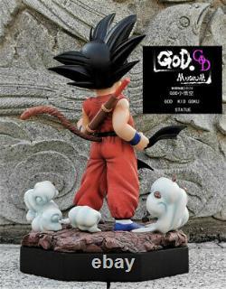 Dragon Ball Kid Son Goku Statue God Studio Figure Resin Model New 33cm