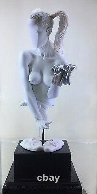 Erotic nude Female Torso Tragedy Comedy Jaydee Models Sculpture Jonathan Dewar