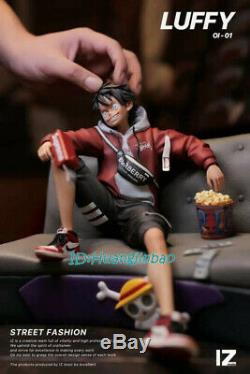 IZ One Piece Monkey D Luffy Statue Street Fashion Resin Figure 1/6 Scale InStock