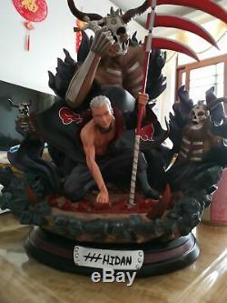 In Stock Naruto Akatsuki Hidan Model Resin Statue GK With Led Light Death Figure