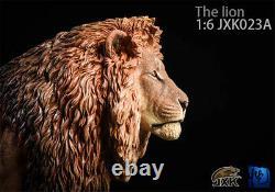 JXK 1/6 Lion Figure Panthera leo King Animal Model Collector GK Toy Decoration