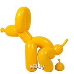 Jeff Koons Pink Yellow Balloon Dog Figure Art Figurine Resin Models 239.522cm