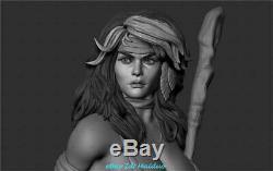 Jungle Girl Unpainted Resin Kits Model GK Figure 3D Print 20cm
