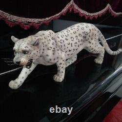 JxK 1/6 Snow Leopard Panther Figure Animal Model Collector GK Felid Decor Toy
