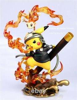 Pikachu Cos Naruto Namikaze Minato Sarutobi Hiruzen Resin Figure Model Painted