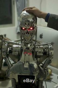 Terminator T2 T800 11 Life-Size Bust Model Endoskeleton Chrome Figure Statue