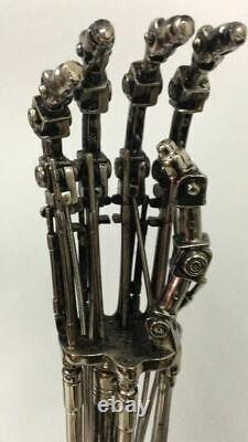 Terminator T2 T800 11 Life-Size Endoskeleton Arm Model Chrome Figure Statue Toy