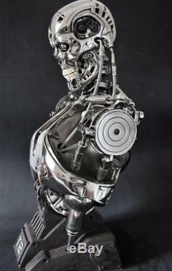 Terminator T800 1/2 Bust Model Endoskeleton Figure Statue Resin Toy Collectibles
