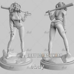 Unpainted 1/6 30cm H Harley Quinn Joker Resin Figure Unassembled 3D Print Model
