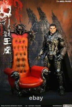 WOLFKING WK88006A 1/6 Skull Throne Single Sofa Chair Seat Model Fit 12'' Figure