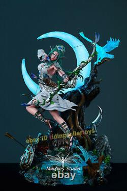 WOW Mayflies Studio Tyrande Whisperwind 1/4 Resin Statue Model Led Light NEW