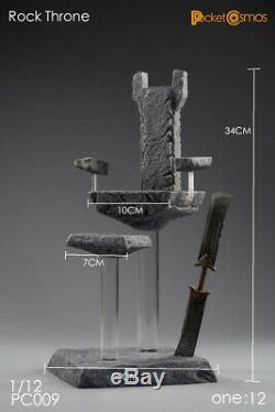 112 Échelle Pctoys Pc009 Le Rocher Trône Figure Modèle En Résine Support Toy