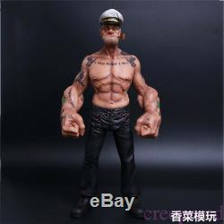 12 Headplay Popeye Figure Marin Résine Gk Statue Réaliste Modèle Body Tattoo