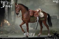 16 Iqo Modèle Seconde Guerre Mondiale 1944 Militaire 91008b Brown War Horse Animal Figure Satue