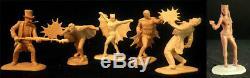 1966 Jeu De 6 Idéal Style Chauve-souris Figures Modèle En Résine Kit 02bbl01