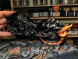 1/10 Ghost Rider Statue Résine Modèle Kits Gk Collections Figure Cadeaux Painted Nouveau
