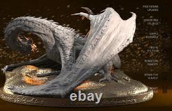 1/200 Scale Smaug Dragon Kits De Résine Non Peinte Modèle Figure Gk 3d Print H 12cm