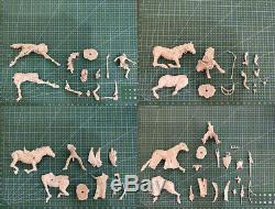1/32 Figure Résine Modèle Kit Apocalypse Horsemen 4 Démontées Belli Include