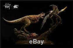 1/35 Carnotaure Ptérosaure Scène Statue Dinosaur Figure Jouet Animal Collecteur Gk