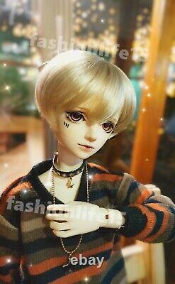 1 / 4 Bjd Doll Boy Resin Figures Body Model Yeux Libres + Visage Make Up Toy Gifts