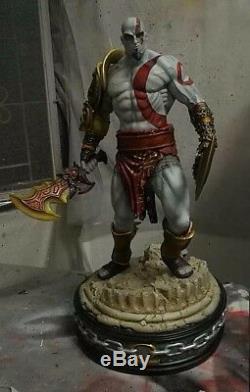 1/4 Dieu Kratos De Guerre Modèle Jeu Figure Unpainted Unassembled Bonne Résine Kit