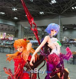 1/4 Eva Asuka Unpainted Résine Figure Modèle Kits Anime Garage Kit En Stock Statue