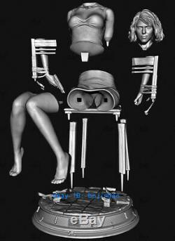 1/4 Veuve Noire Scarlett Résine Figure Unpainted Résine Modèle Kits Unassembled