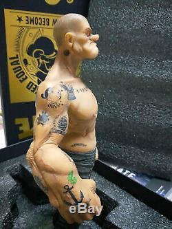 1/6 Vente Hot Popeye The Sailor Man Statue Résine Figurine Toy Corps Modèle Tattoo