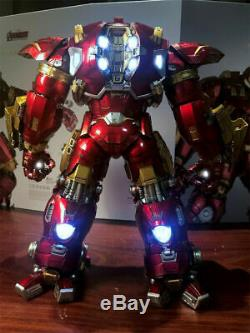 2019 Comicave 1/12 Iron Man Mk44 Hulkbuster Action Figure Alliage Led Modèle