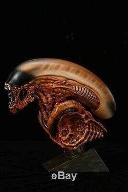 Alien3 Statue Head Alien Statue De Chien Modèle Peint Échelle 1/3 Sculpture Rare