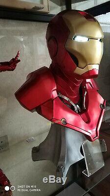 Avengers 11 Iron Man Buste Statue Résine Fer Homme Modèle Mk3 Figure Dans Les Jouets Stock