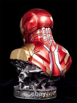 Avengers 4 Iron Man Mk46 Buste Statue Résine 1/2 Gk Figurine Cadeau De Jouet Lumineux