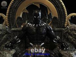 Black Panther Sur Trône 1/6 Figure Statue Modèle Résine Kits Unpainted Impression 3d