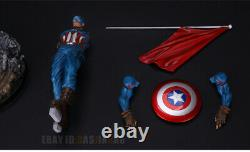 Captain America 1/6 Modèle En Résine Statue Figure Couleur Primaire Version En Stock