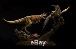 Carnotaurus Scène De Chasse Statue Dinosaur Figure Modèle Animal Jouet Collectordecor