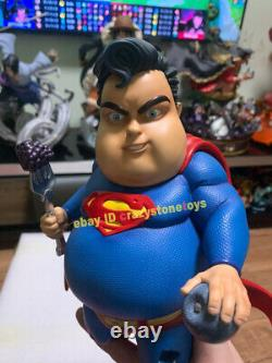 Co Fat Superman Mum Mum Chubby Supperman Painted Gk Statue Model Figure In Stock