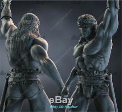 Conan Unpainted Resine Arnold Schwarzenegger Modèle 3d Figure Imprimer 42cm