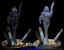 Cortana Master Chief 1/6 Figure Statue Resin Model Kits Impression 3d Non Peinte