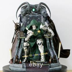 Doctor Doom In Throne 1/4 Statue De Résine Modèle Peint Avec Base Collectible