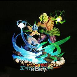 Dragon Ball Dbz Gogeta Vs Broly Statue Led Modèle Painted Collection Figure